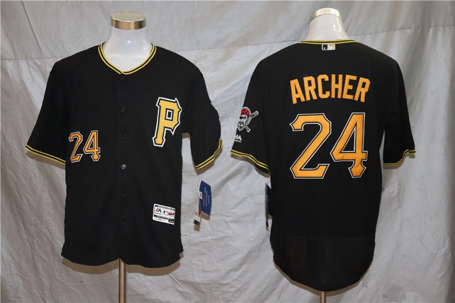 Pirates 24 Chris Archer Black Flexbase Jersey