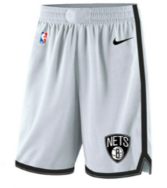 Nets White Nike Swingman Shorts