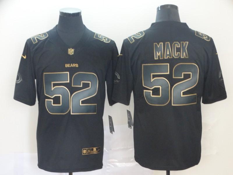 Nike Bears 52 Khalil Mack Black Gold Vapor Untouchable Limited Jersey