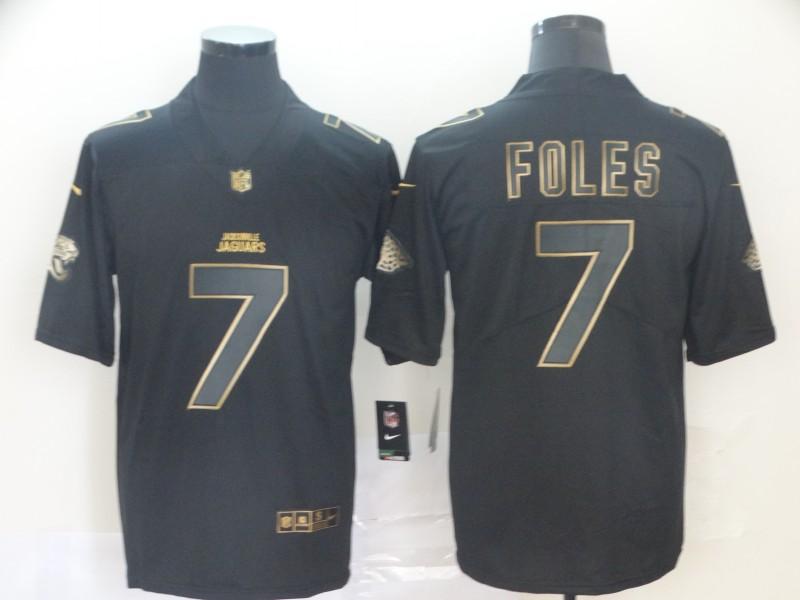 Nike Jaguars 7 Nick Foles Black Gold Vapor Untouchable Limited Jersey