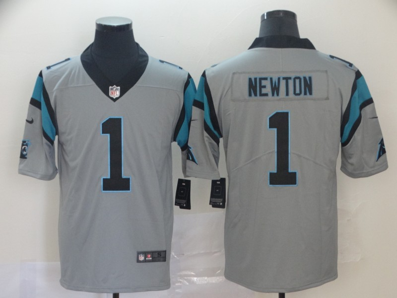 Nike Panthers 1 Cam Newton Silver Inverted Legend Limited Jersey