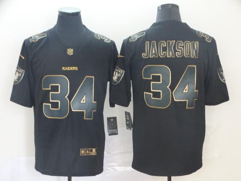 Nike Raiders 34 Bo Jackson Black Gold Vapor Untouchable Limited Jersey