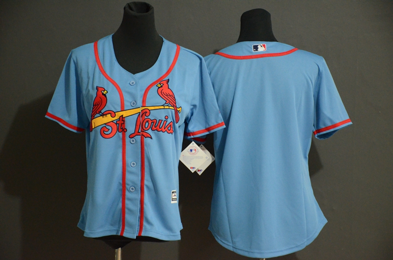 Cardinals Blank Women Light Blue Flexbase Jersey