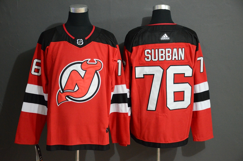 Devils 76 P.K. Subban Red Adidas Jersey