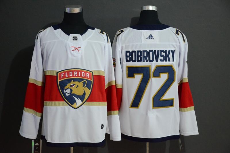 Panthers 72 Sergei Bobrovsky White Adidas Jersey