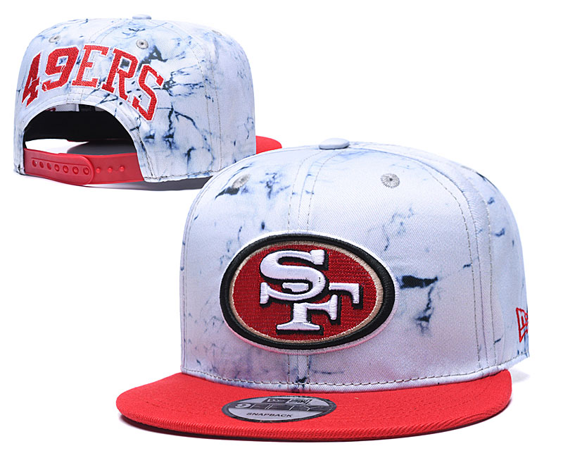 49ers Team Logo Smoke Red Adjustable Hat TX