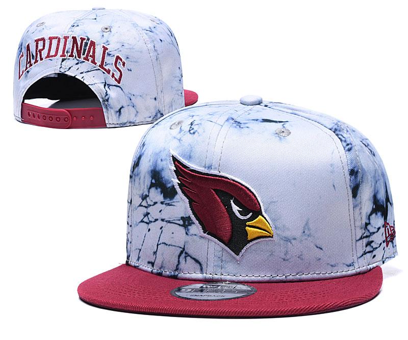 Arizona Cardinals Team Logo Smoke Red Adjustable Hat TX