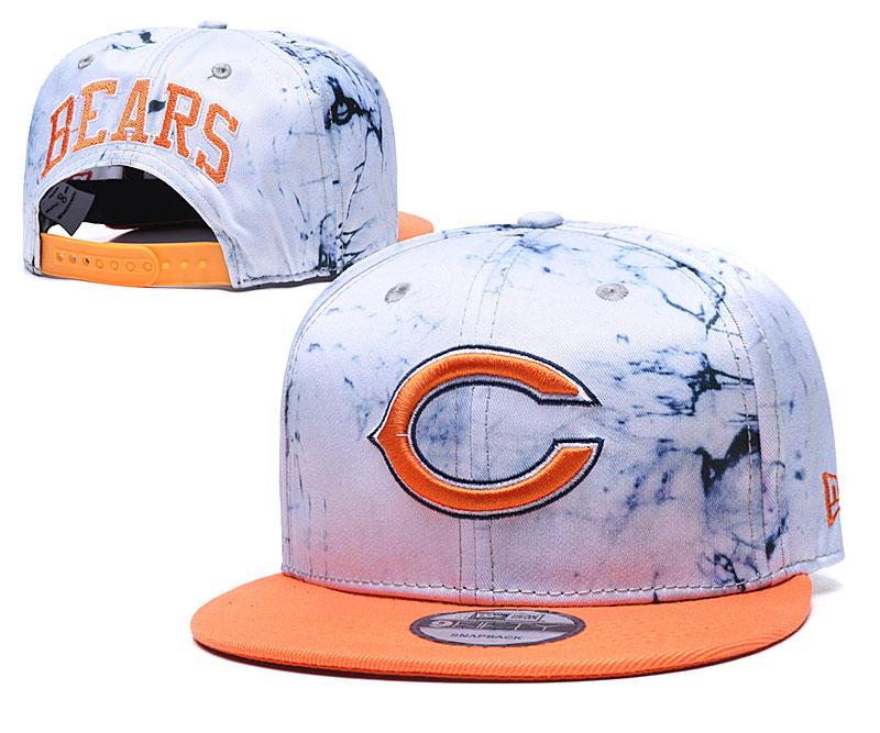 Bears Team Logo Smoke Orange Adjustable Hat TX