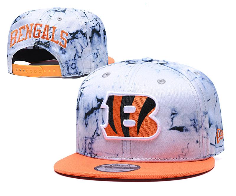 Bengals Team Logo Smoke Orange Adjustable Hat TX