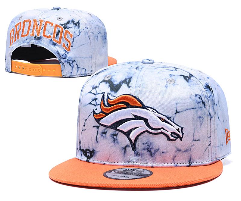 Broncos Team Logo Smoke Orange Adjustable Hat TX