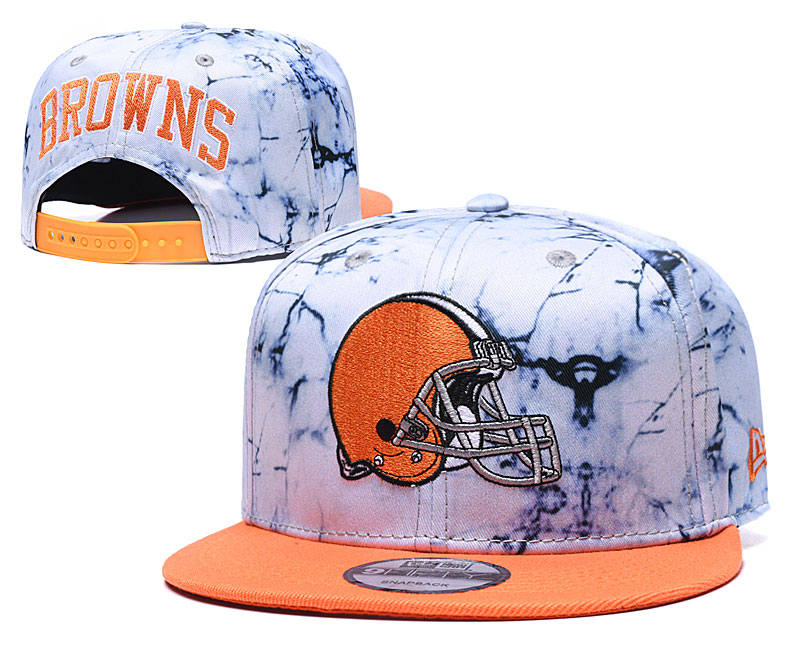 Browns Team Logo Smoke Cream Adjustable Hat TX