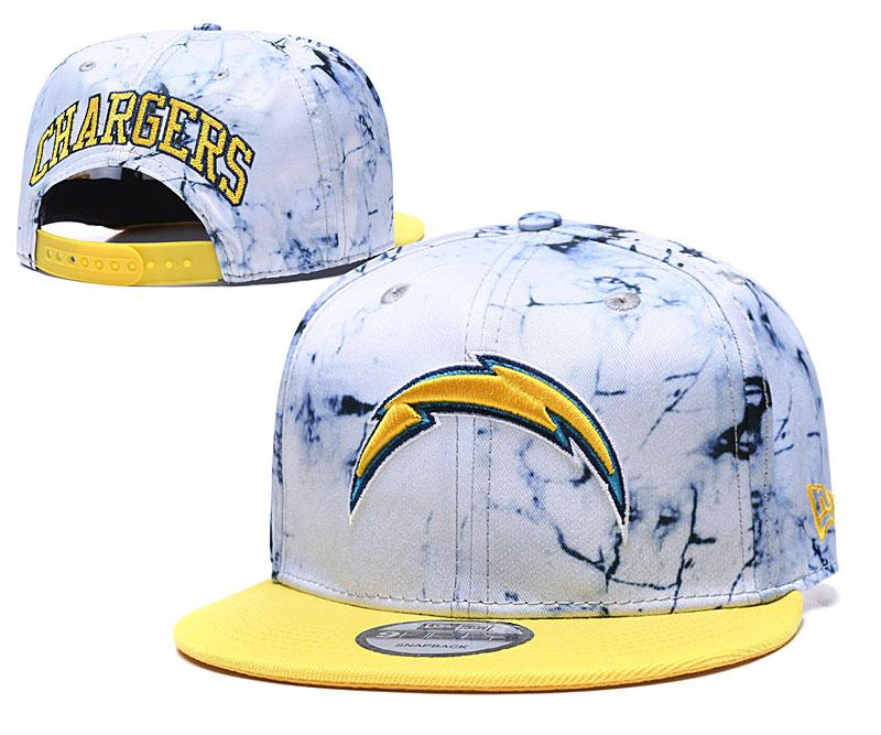 Chargers Team Logo Smoke Yellow Adjustable Hat TX