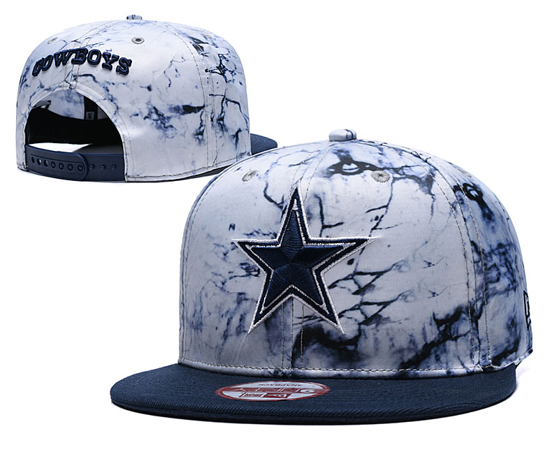 Cowboys Team Logo Smoke Navy Adjustable Hat TX