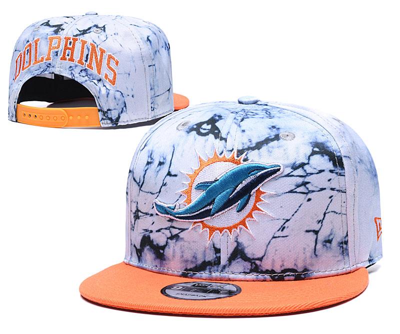 Dolphins Team Logo Smoke Orange Adjustable Hat TX