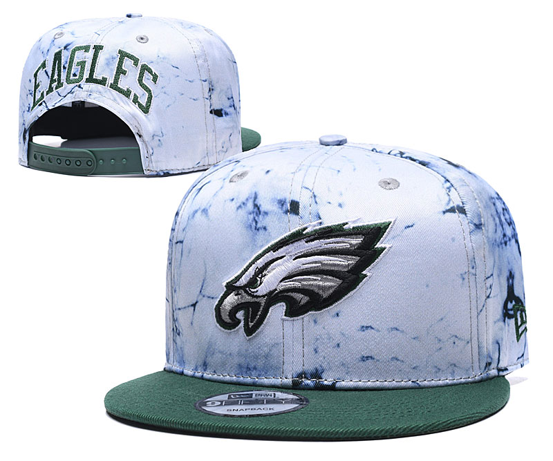 Eagles Team Logo Smoke Green Adjustable Hat TX