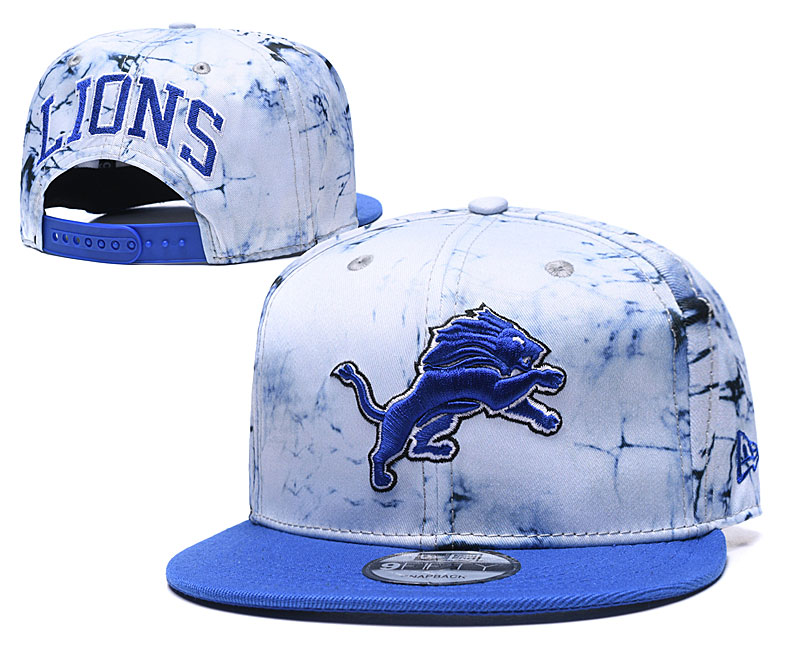 Lions Team Logo Smoke Blue Adjustable Hat TX