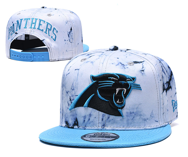 Panthers Team Logo Smoke Blue Adjustable Hat TX