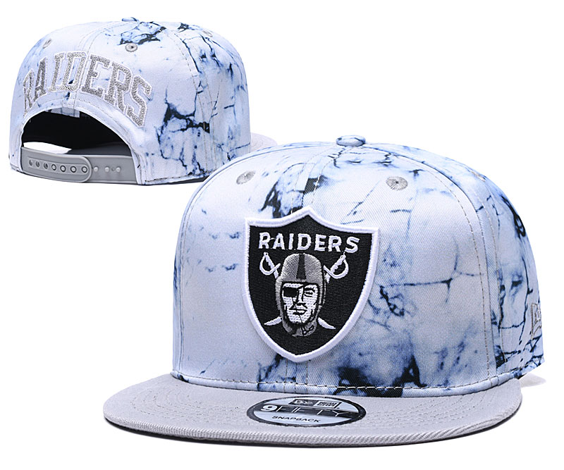 Raiders Team Logo Smoke Cream Adjustable Hat TX