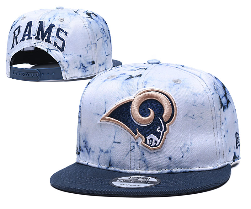 Rams Team Logo Smoke Navy Adjustable Hat TX