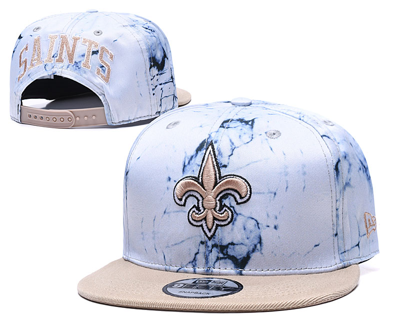 Saints Team Logo Smoke Cream Adjustable Hat TX