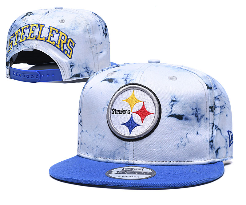 Steelers Team Logo Smoke Blue Adjustable Hat TX