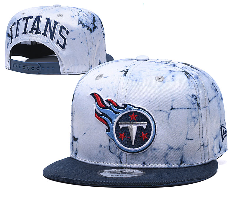 Titans Team Logo Smoke Navy Adjustable Hat TX