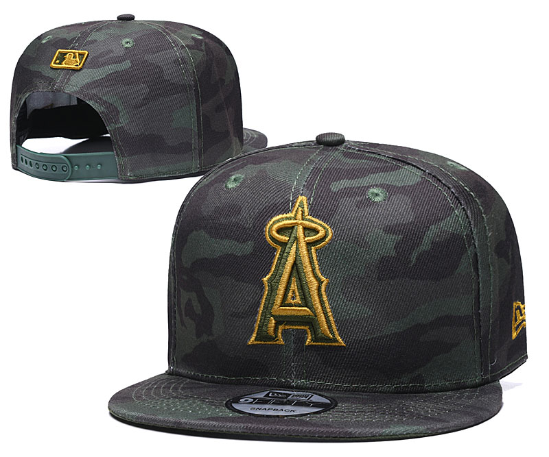 Angels Team Logo Camo Adjustable Hat TX