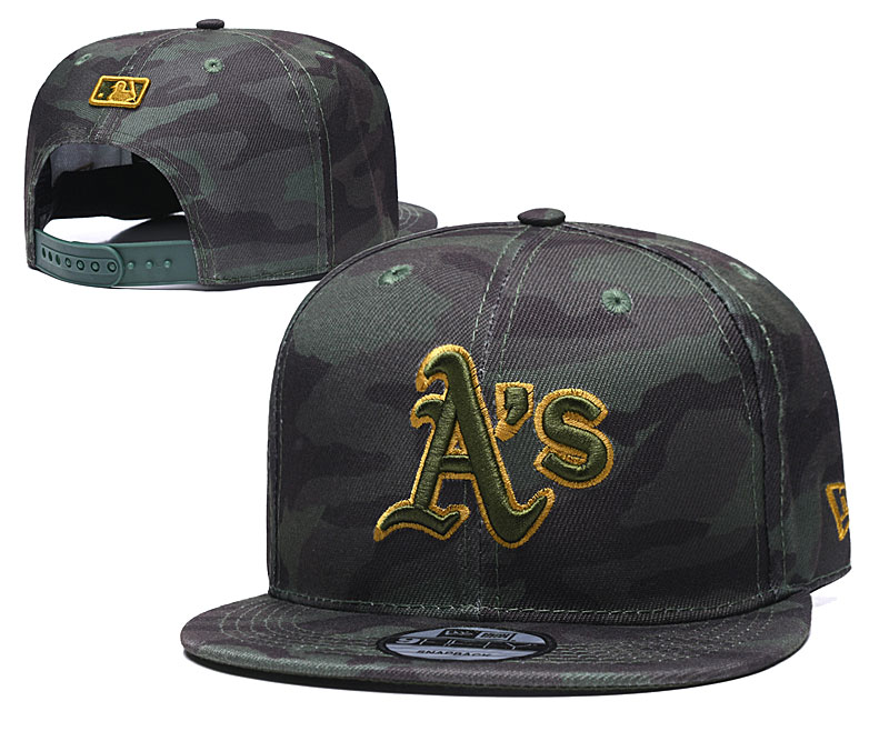 Athletics Team Logo Camo Adjustable Hat TX