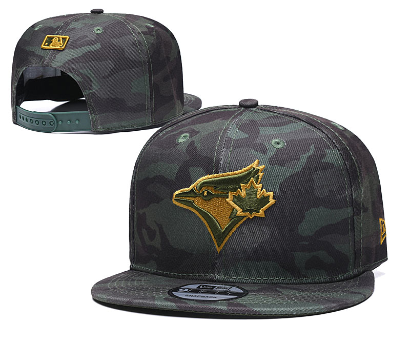 Blue Jays Team Logo Camo Adjustable Hat TX
