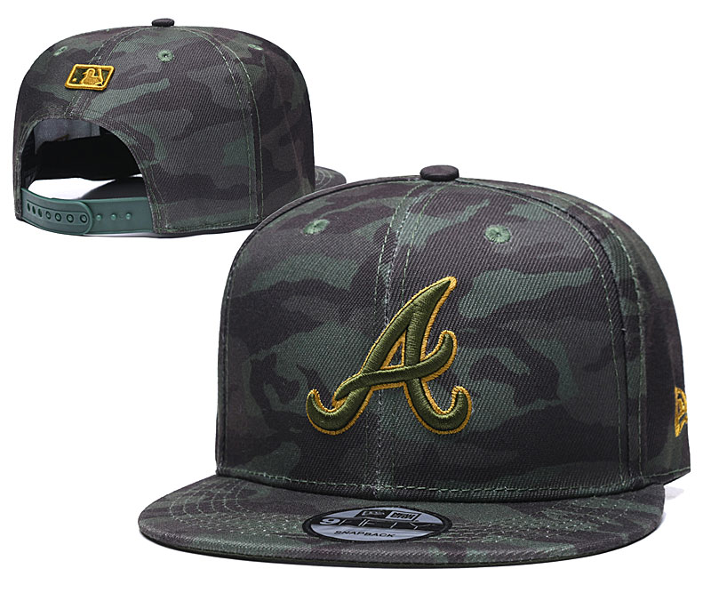 Braves Team Logo Camo Adjustable Hat TX