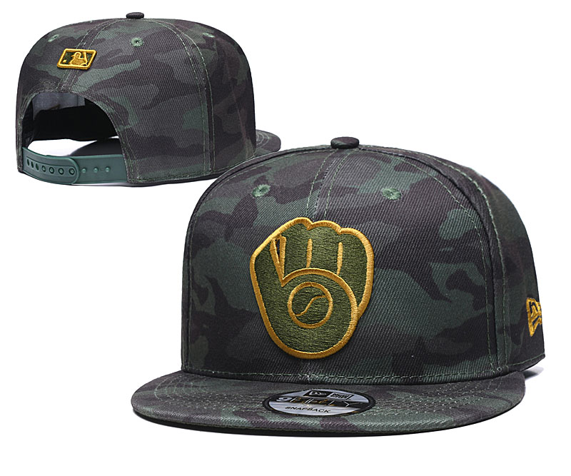 Brewers Team Logo Camo Adjustable Hat TX