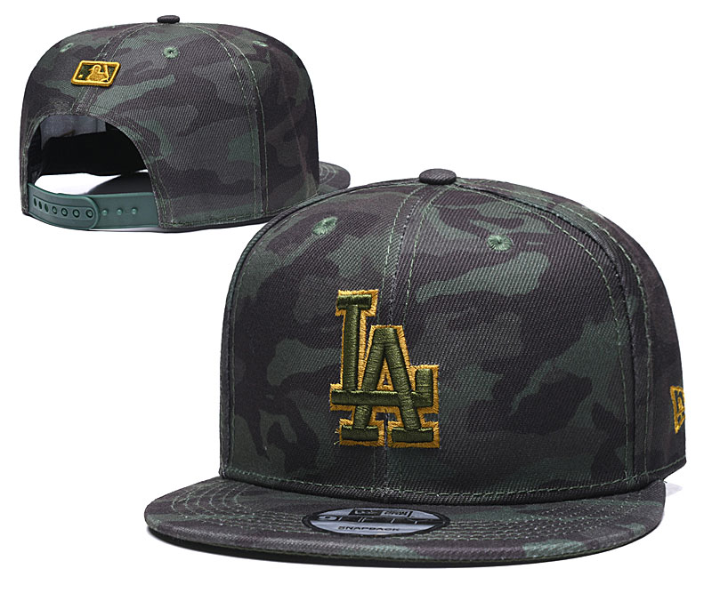 Dodgers Team Logo Camo Adjustable Hat TX
