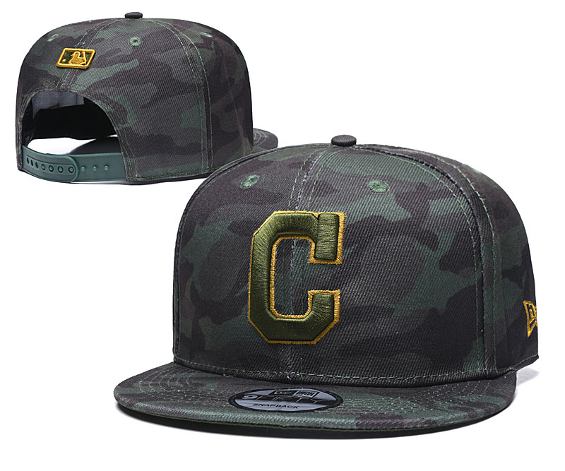 Indians Team Logo Camo Adjustable Hat TX
