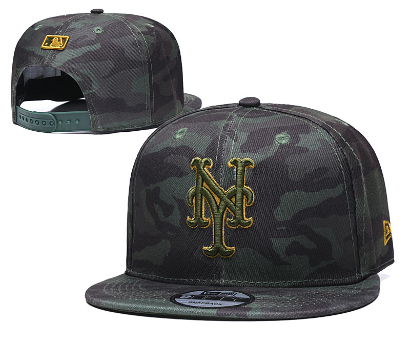 Mets Team Logo Camo Adjustable Hat TX