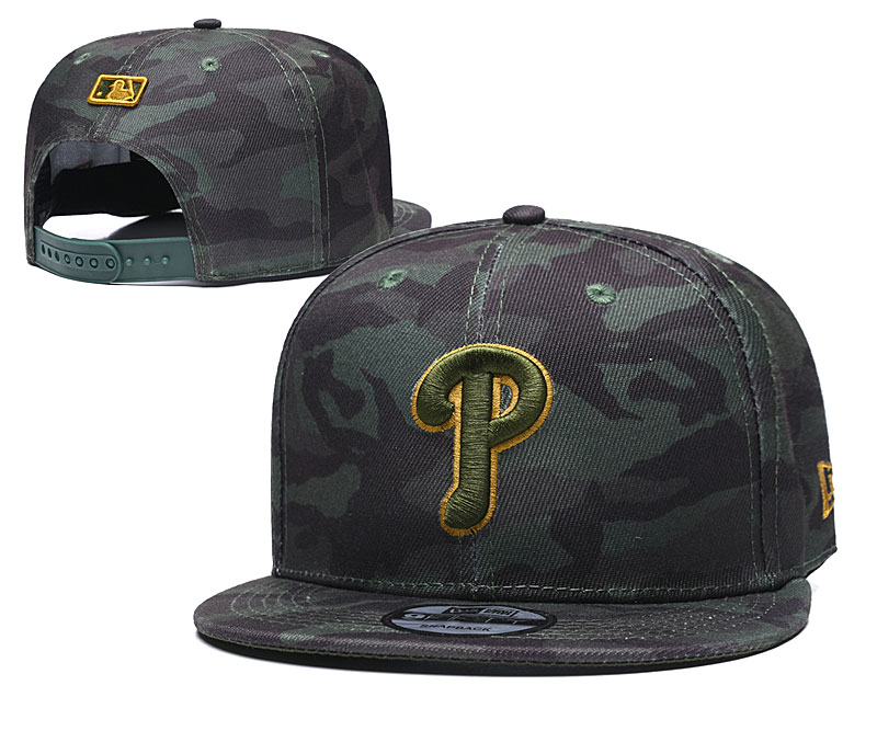 Phillies Team Logo Camo Adjustable Hat TX