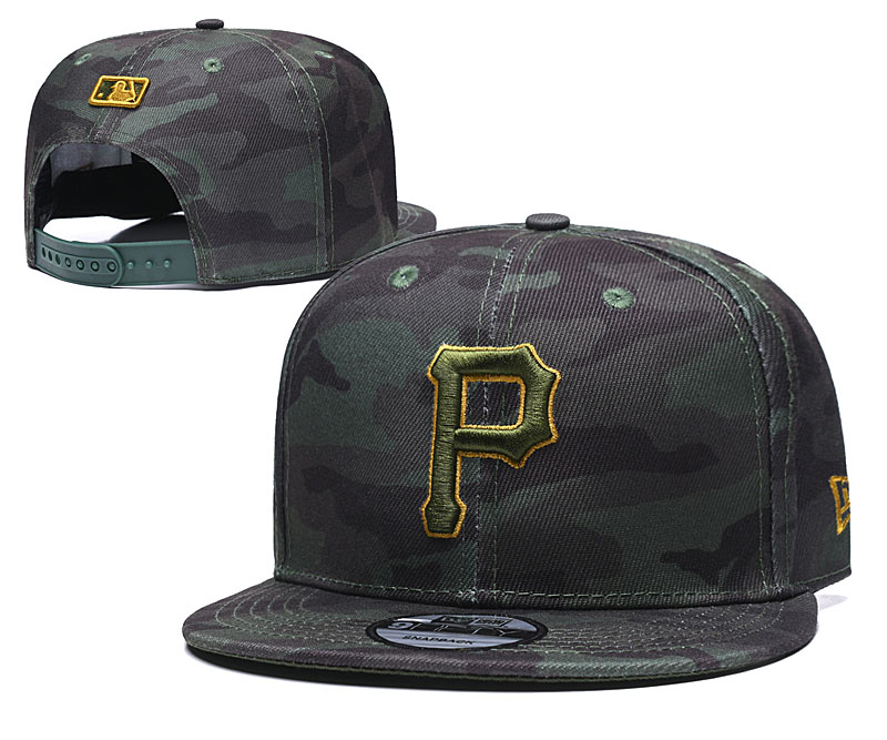 Pirates Team Logo Camo Adjustable Hat TX