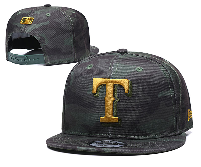 Rangers Team Logo Camo Adjustable Hat TX