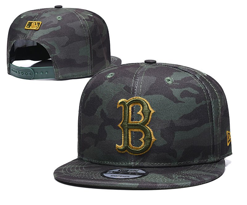 Red Sox Team Logo Camo Adjustable Hat TX