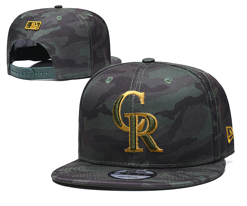 Rockies Team Logo Camo Adjustable Hat TX
