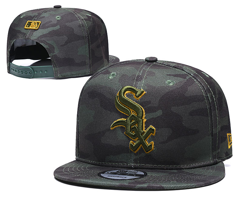 White Sox Team Logo Camo Adjustable Hat TX