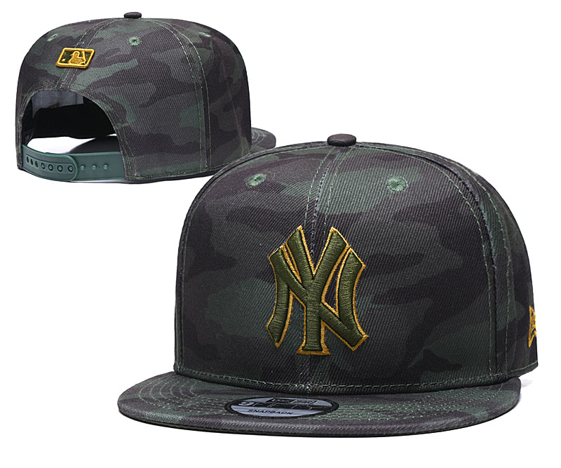 Yankees Team Logo Camo Adjustable Hat TX