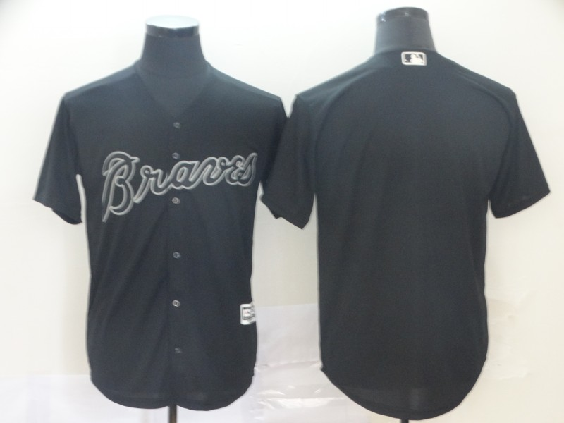 Braves Blank Black 2019 Players' Weekend Player Jersey