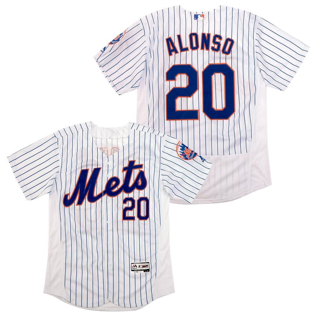 Mets 20 Pete Alonso White Flexbase Jersey