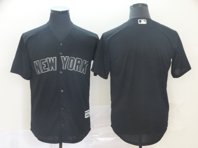 Yankees Blank Black 2019 Players' Weekend Player Jersey