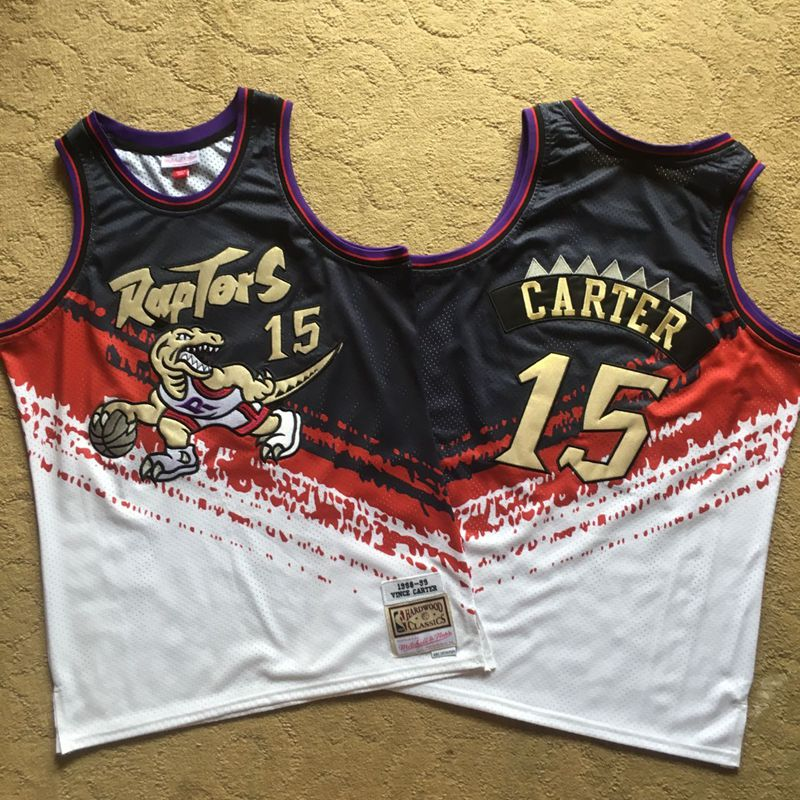Raptors 15 Vince Carter Multi Color 1998-99 Hardwood Classics Independent Swingman Jersey