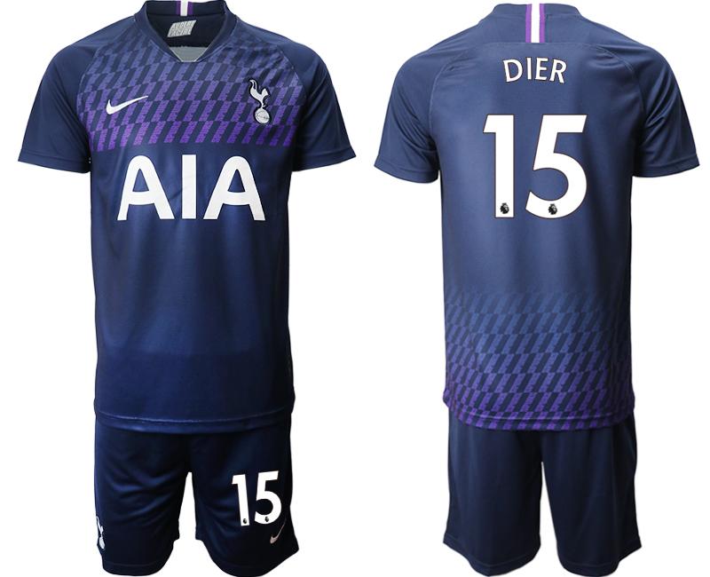 2019-20 Tottenham Hotspur 15 DIER Away Soccer Jersey