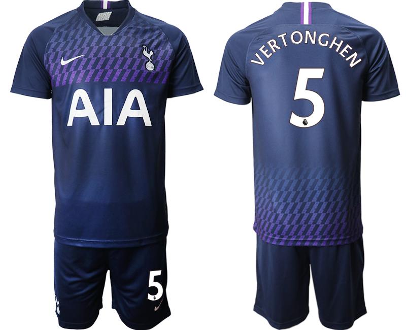 2019-20 Tottenham Hotspur 5 VERTONGHEN Away Soccer Jersey