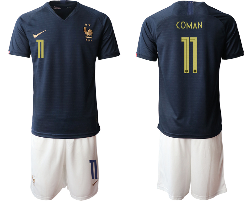 2019-20 France 11 COMAN Home Soccer Jersey