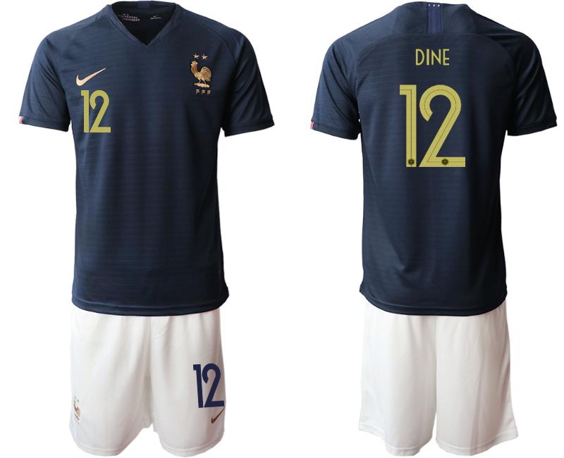 2019-20 France 12 DINE Home Soccer Jersey