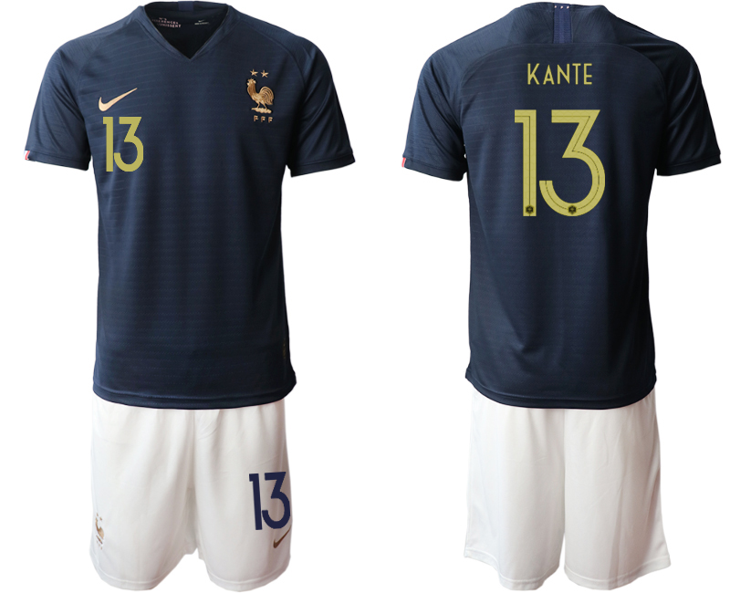 2019-20 France 13 KANTE Home Soccer Jersey